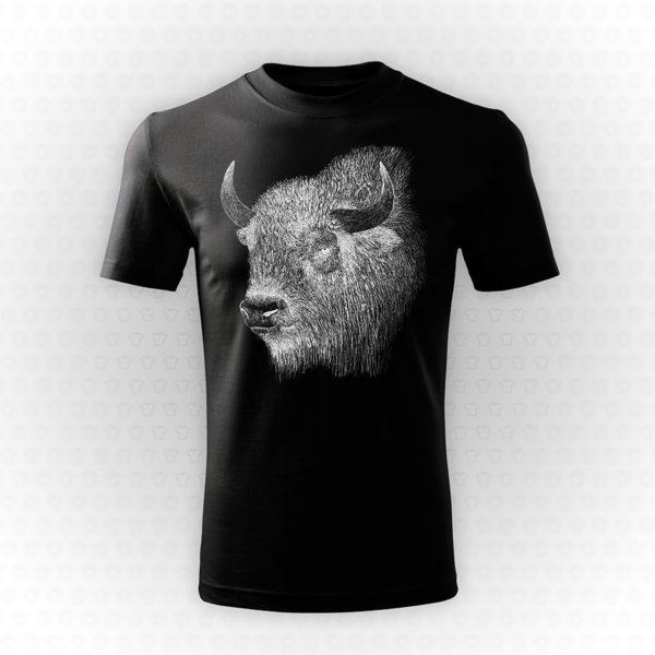 Sitodruk na czarnej koszulce